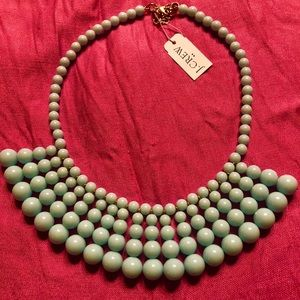 J. Crew Having a Ball beaded statement necklace